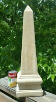 "Vintage Grand Tour Obelisk Sculpture Art Deco 12 lbs HEAVY 21"" tall"