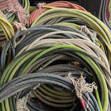 3- Used lariat western cowboy rope decor team rope lasso