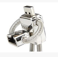 Silver Metal Robot Cool Novelty 16GB USB Drive Memory Stick Gift Present