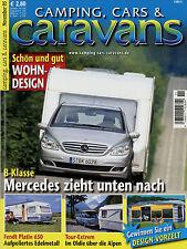 Camping Cars Caravans 11/05 2005 Fendt Platin 650 TFD Sterckeman Evolution 510 P
