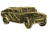 US Military Hummer Humvee (gold tone) Hat or Lapel Pin H15859D63