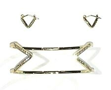Victoria's Secret Earring Bracelet Set Gold Tone & Stones 23001231