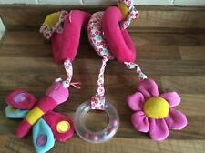 Pink Garden Friends Spiraloo Spiral Toy For Cot, Car Seat Or Pram