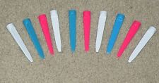 "10 - 3"" Plastic WEDGE Golf Tees (various colors) VERY DURABLE!  Long Lasting!"