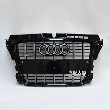 S3 Style Black Front Honeycomb Mesh Grille for Audi A3 S3 Sline 2009-2012