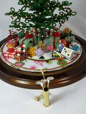For Westrim Beaded Mini Christmas Tree* Under Tree * Gold Metal Golf Clubs / Bag