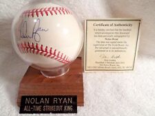 Nolan Ryan Signed Autographed Baseball on Sweet Spot  NYM CAL HOUSTON TEXAS