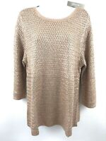NWT Chicos XL Sweater Lightweight Stretch 3/4 Sleeve MSRP $99.00 (A7)