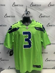 Nike Men's Seahawks Russell Wilson #3 Color Rush Jersey Green MSRP $120 D-5