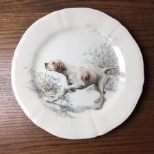 """GIEN Sologne Pointer 9"""" Salad Dessert Plate France Hunting Dog Estelle Rebottaro"""