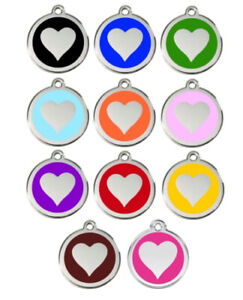Dog Pet ID Tag Charm - Personalized - Red Dingo - Lifetime Guarantee - Heart