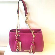 River Island NEW Pink Tote Handbag Chain Handles Bag Tassels 711082 RRP £46