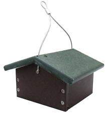 Jcs Wildlife Recycled Upside Down Single Suet Feeder Brown W/ Green Roof