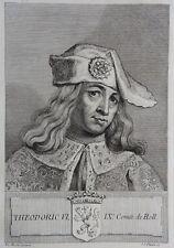 Gravure Antique print THEODORIC VI Comte de Hollande Flipart Count of Holland