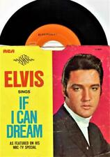 ELVIS PRESLEY IF I CAN DREAM TV SPECIAL PICTURE SLEEVE 45 RPM RECORD