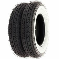 Shinko SR550 Street White Wall Tire Set - Honda Z50A/R - 1968-1999 - Tires Only