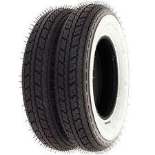 Shinko SR550 Street White Wall Tire Set - Honda Z50A/R - 1968-1999 - Tires Only