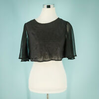 Kimchi Blue Urban Outfitters Size Extra Small XS Embroidered Crop Top open back
