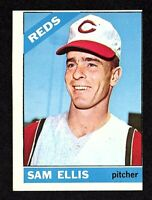 1966 Topps #250 Sam Ellis Cincinnati Reds Vintage Baseball Card OC Sharp VG/EX+