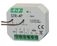 F&F STR-4P Rolladensteuerung Rolläden Rolladen Rollo Steuerung 12V 24V 6A IP20