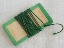 Antique Victorian Silk Thread Winder - Rectangular Green & Cream Card - c1840's