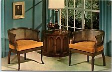 Postcard NC High Point Chalet Inc. French Italian Provincial Chairs AB37