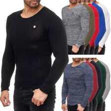 Unifarbene Herren-Pullover & -Strickware mit Rundhals-Ausschnitt aus Baumwollmischung