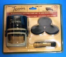 7 Gypsies Interchangeable Certifiable Stamp Oval w/Hand Drawn Seals  #17645 NOS