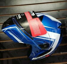 Motorcycle Helmet Flip Up Modular Black sunshades dual visor DOT ECE ZOX Condor