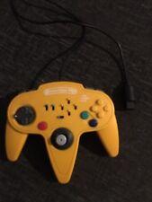 Competition Pro Nintendo N64 Banana Amarillo controlador con conmutadores Turbo