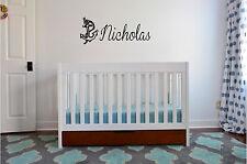 Anchor & Personalized Name Wall Sticker Wall Art Decor Nautical Nursery Decor