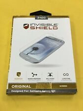 OEM Zagg Invisible Shield Original Screen Protector for Samsung Galaxy SIII/S3