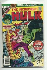 (1962 SERIES) MARVEL THE INCREDIBLE HULK ANNUAL #6 - 1ST AYESHA HER GOTG F/VF