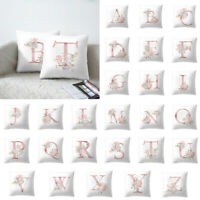 """Letter Soft Throw PILLOW COVER Monogram Sofa Couch Cushion Case 18x18"""""""