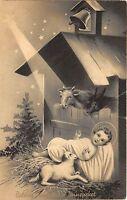 B2184 Illustration Enfant Jesus 1941l  artist signed front/back scan
