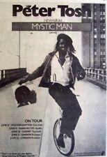 PETER TOSH 1979 original POSTER ADVERT MYSTIC MAN reggae monocycle the wailers