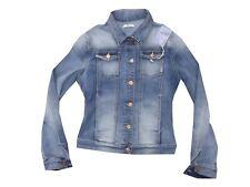 fifty four giacca giubbotto jeans beach 360 donna slim stretch corto azzurro M L