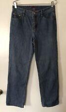 Eddie Bauer Women's Flannel Lined Jeans Size 6 Inseam 3