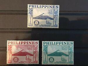 Philippines 1955 50th Anniv of Rotary International.3 stamp set MNH