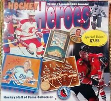 2003 Hockey Hall Of Fame Collection Hockey Heroes Calendar ~ Unopened