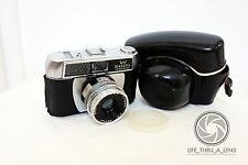 Halina Paulette Electric 35mm film camera with case