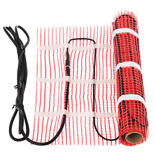 Electric Tile Radiant Warm Floor Heat Heating Mat System 40 sqft Self-Adhesive