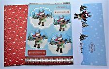 Kanban Christmas Santa & Friends Die Cut Foiled Toppers,Card, Insert Kit 54421