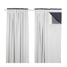 "Ikea ""glansnäva"" Forro de cortina, 1 Par, gris claro ~ 143 X 240 ~ nuevo ~"