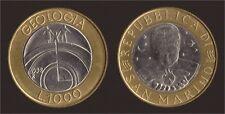 San Marino 1000 Lire 1998 R Km#384 Xf-unc Geologia Bimetall G11983 Münzen