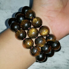 Sparkling 16 MM Indonesian Sea Willow Bracelet Genuine Black Coral 14 Beads