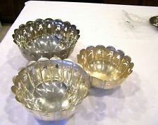 International Silver Company set of 3 Christmas bowls, reindeer Christmas tree