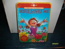 JESUS LOVES ME 4 CD SET BIBLE CAMP SONGS AND STORIES BRAND NEW IN TIN