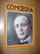 TEATRO RIVISTA COMOEDIA N.16 1923 VERTIGINE GHERARDO GHERARDI VERA VERGANI