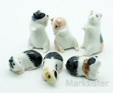 6 Guinea Pig Cavy Ceramic Figurine Animal Statue - CCK070